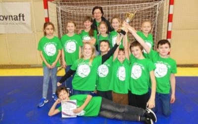4. miesto na Majstrovstvách SR vo vybíjanej najmladších žiakov ažiačok