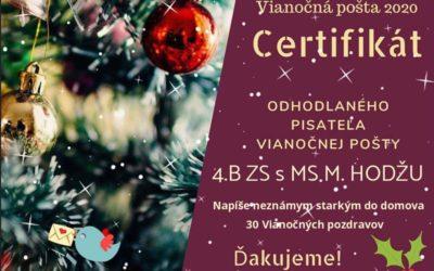 Vianočná pošta pre seniorov