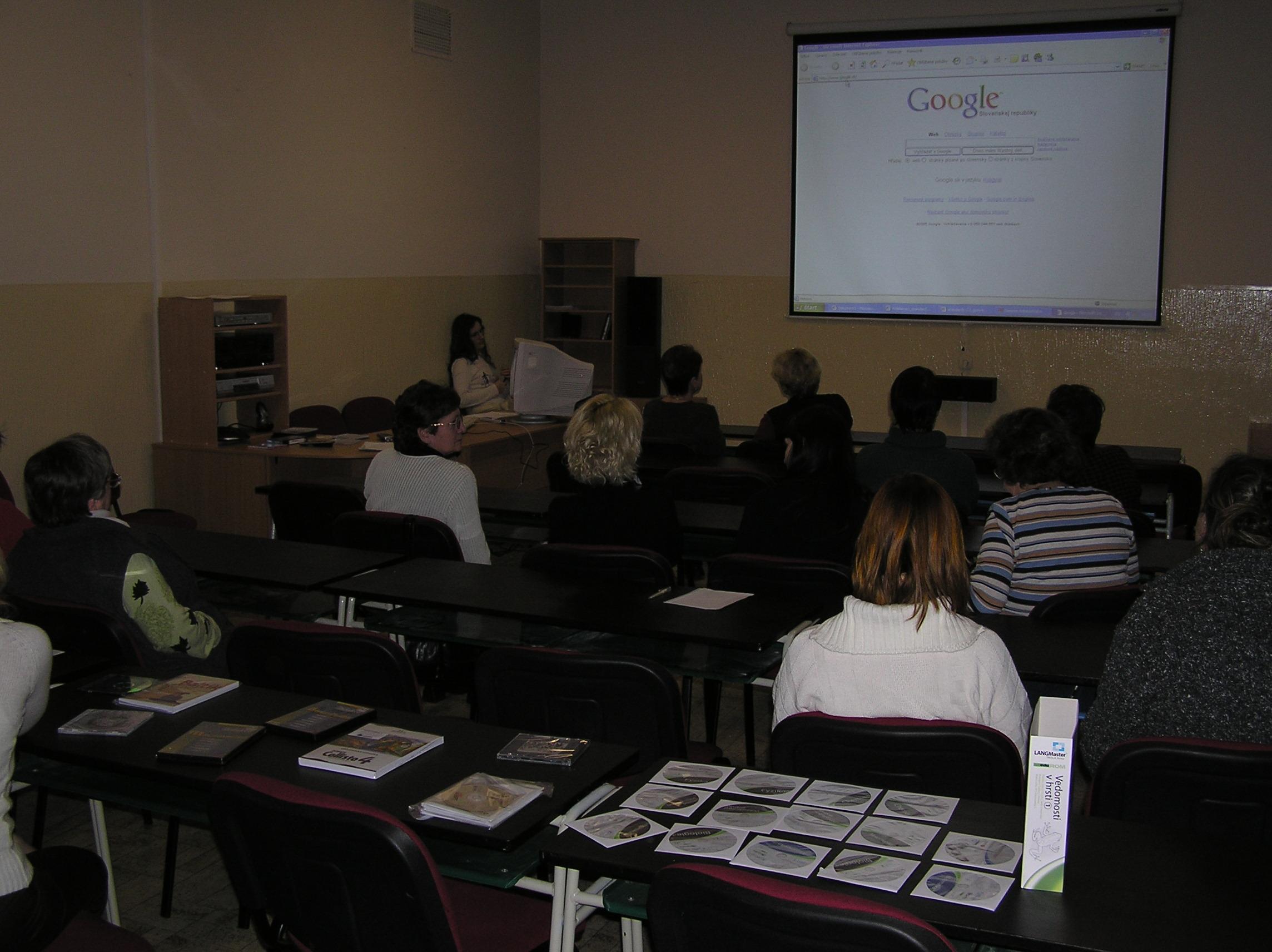 Školenie učiteľov - január 2005
