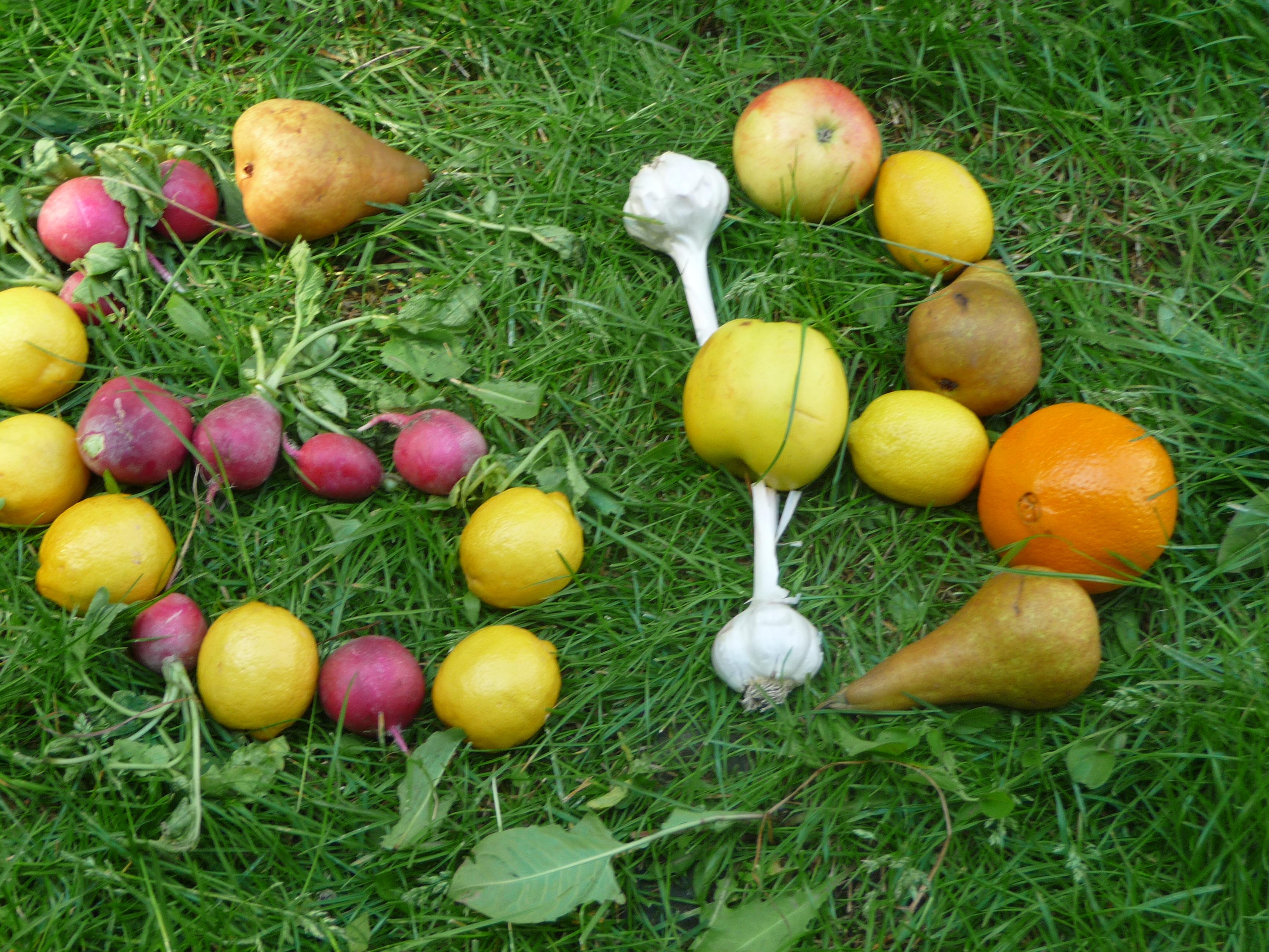 Ovocie a zelenina - mozaika
