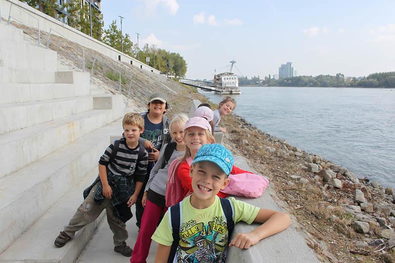 Prechádzka nábrežím Dunaja