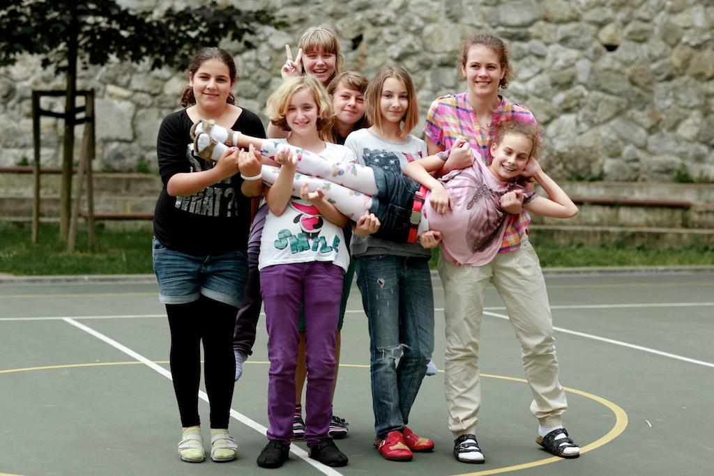 Skupinové fotenie na konci školského roka