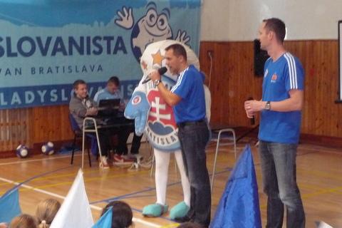 Návšteva futbalistov ŠK Slovan