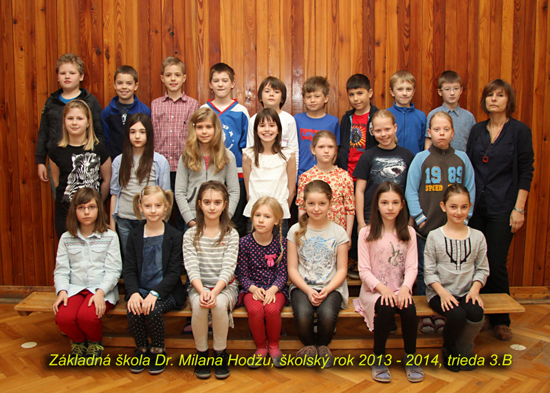 Spoločné fotografie tried a učiteľov v roku 2013/2014