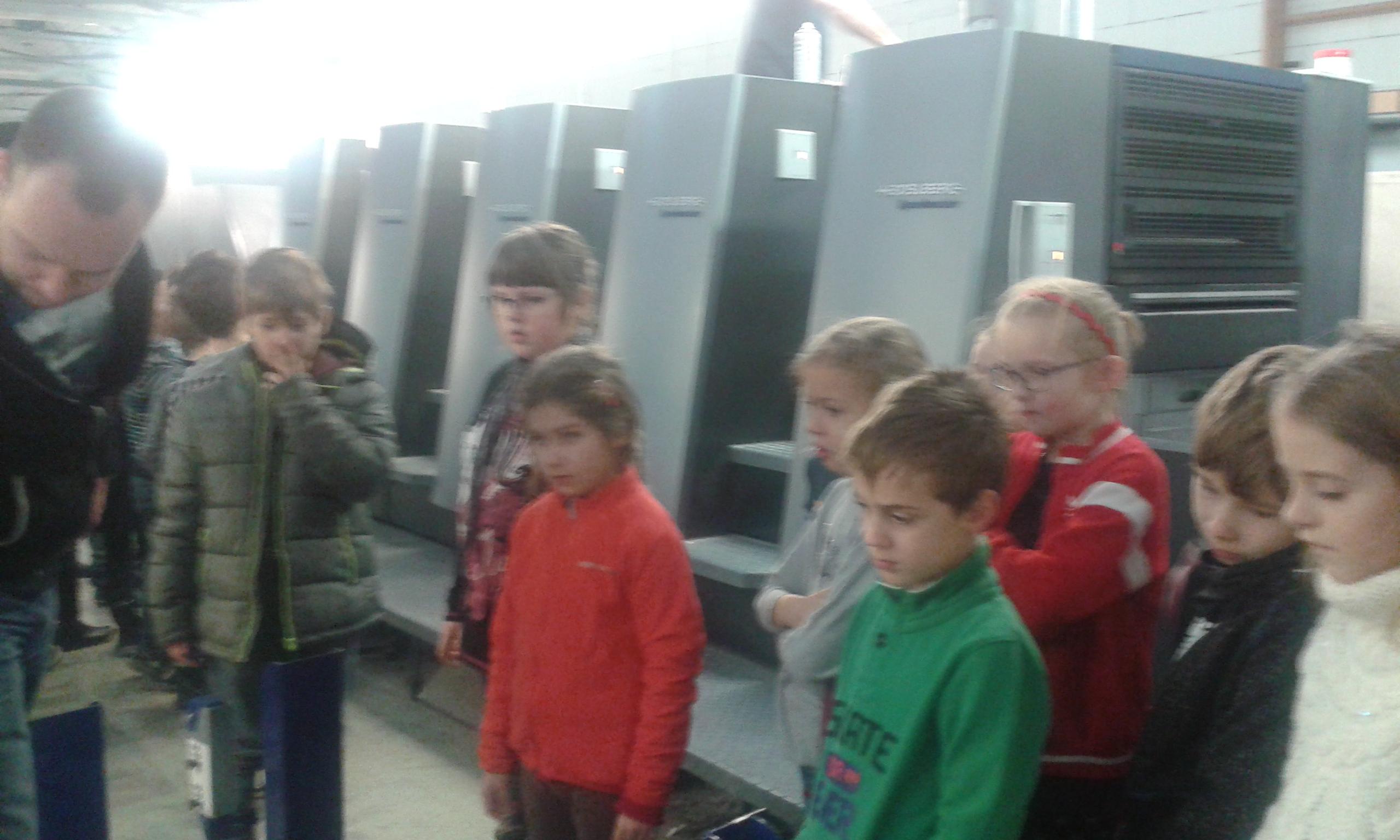 Exkurzia v tlačiarni