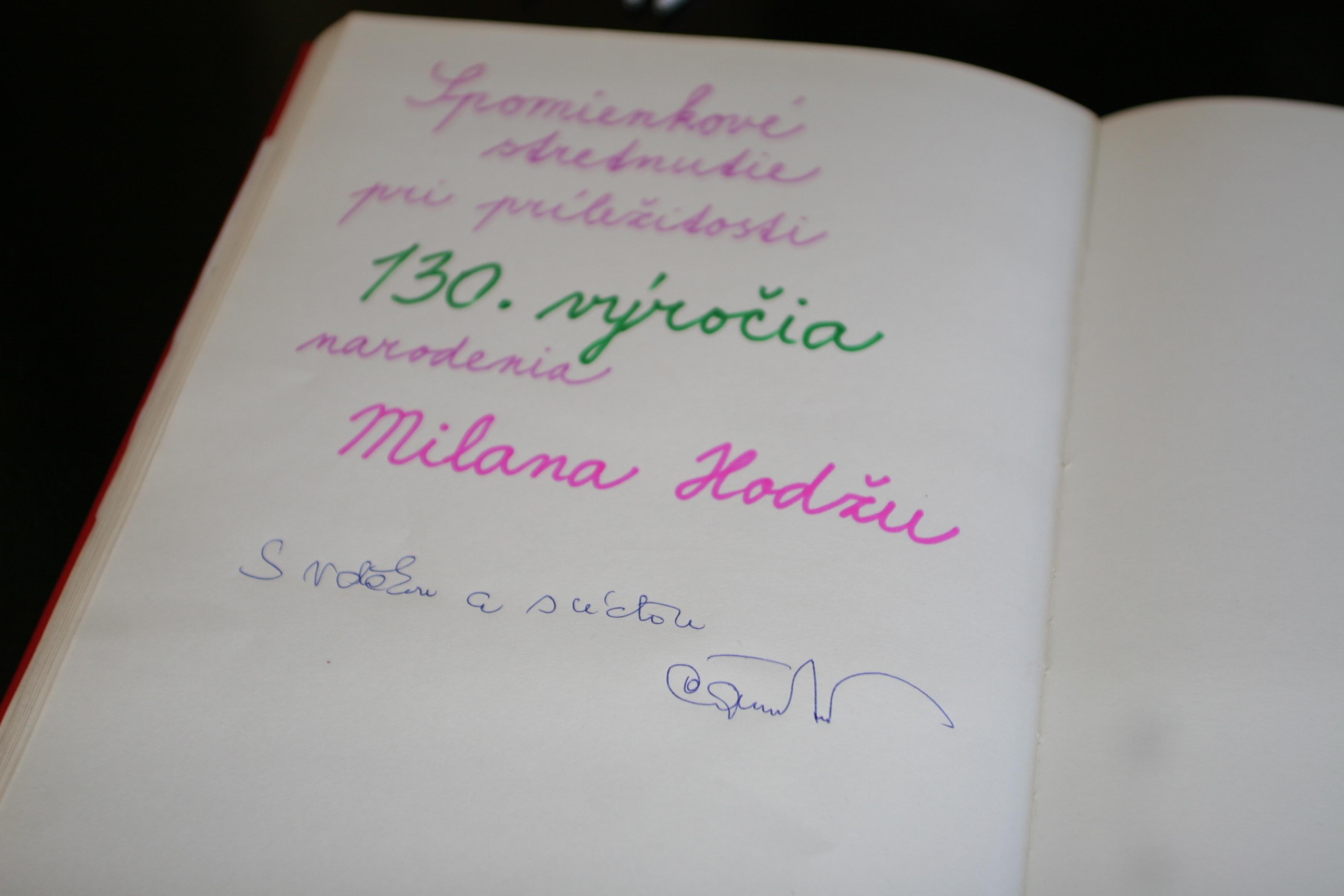 130. výročie narodenia Milana Hodžu